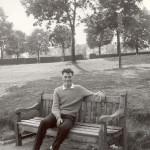 John Neale on a bench c1962