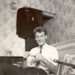 John Neale on settee c1962