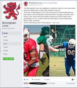 New Bham Lions Post orginal